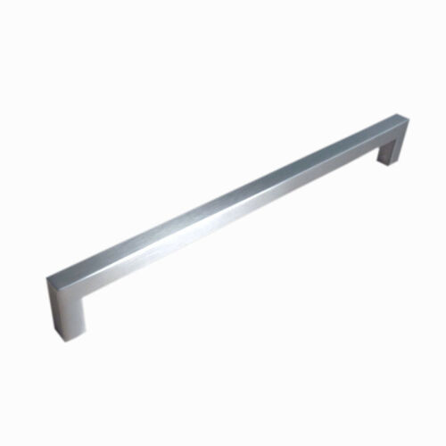 Modern Stainless Steel Brushed Nickel Square Cabinet Pulls Handles Knobs
