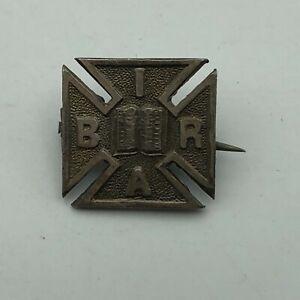 WW2 Era Iron Cross B.I.R.A. Pin Badge TC Anchor Lion A Hallmarks Sterling  K3