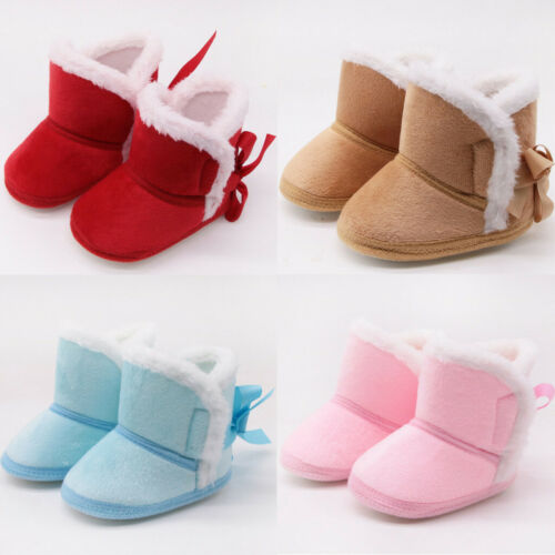 Baby Girls Boy Snow Boots Winter Booties Infant Toddler Newborn Crib Shoes Fi