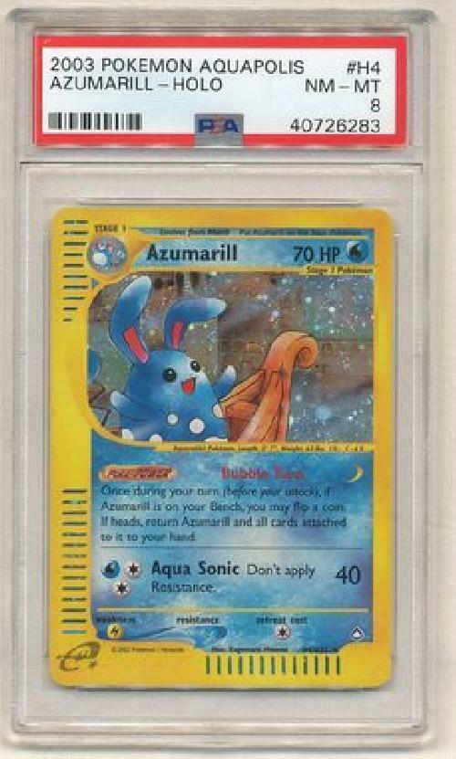 Azumarill - H4 H32 - PSA NM-MT 8 - Holo Rare - (Aquapolis) - Pokemon Card 3Q6
