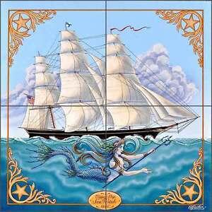 Ceramic-Tile-Mural-Backsplash-Parker-Nautical-Ship-Sea-Witch-Art-POV-EP001