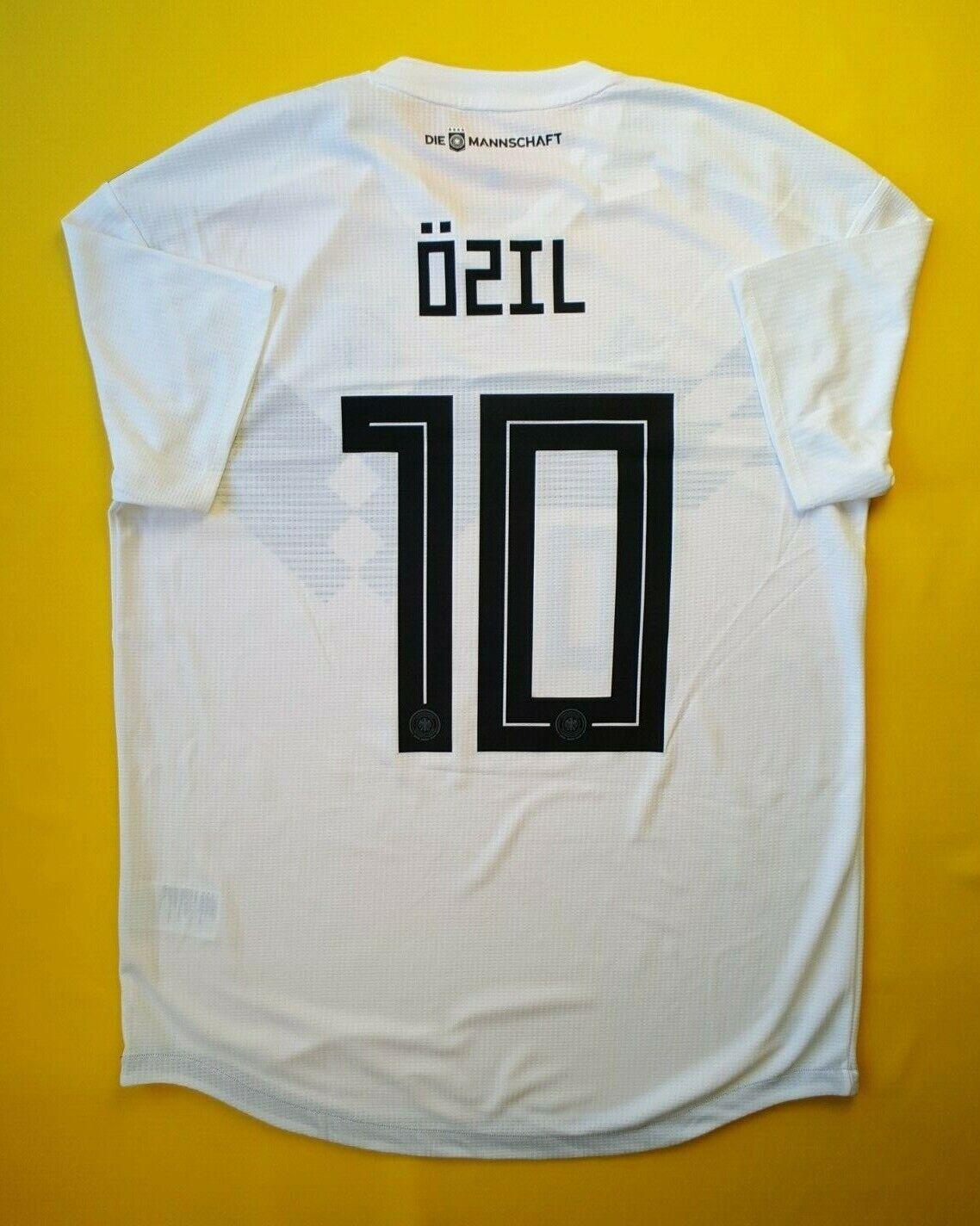 5+ 5 Ozil Alemania Auténtico Fútbol Jersey Camisa grande de 2018 BR7113 Adidas ig93