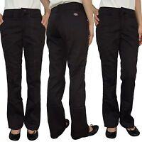 Dickies Juniors Womens School Work Uniform Black Plain Basic Plus Size Pants