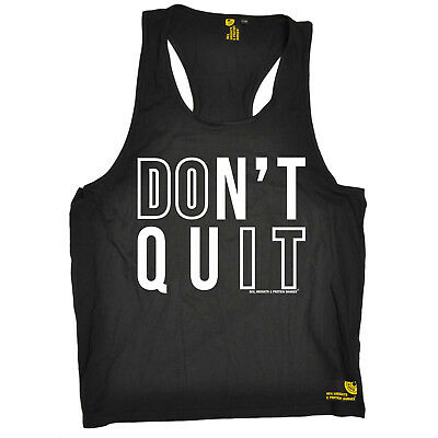 Dont Quit Do It Gym Bodybuilding Workout Training Funny Birthdaytank Top Schnelle WäRmeableitung