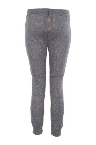 New Kids Boys Fleece Marl Sweats Pants Track Trouser Zip Pockets Jogging Bottoms