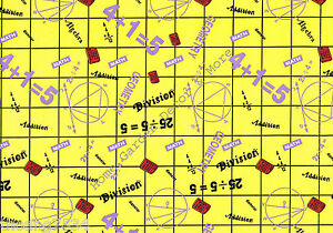 Math School Theme Yellow Grid Vinyl Contact Paper Shelf