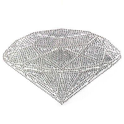 Rhinestone Iron on Transfer Hot fix Motif Crystal Bail Fashion Design