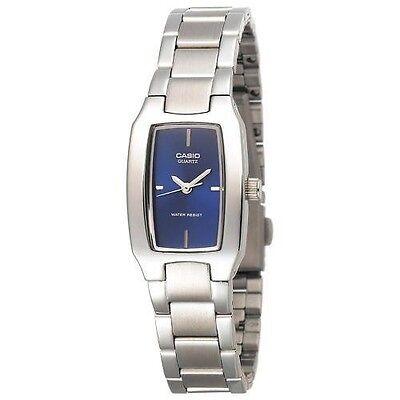 Casio LTP1165A-2C, Women's Silvertone Bracelet Metal Watch,  Blue Dial,