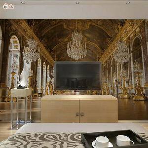 Image Is Loading Golden Luxury Palace Vintage Wallpaper Mural Wall Paper