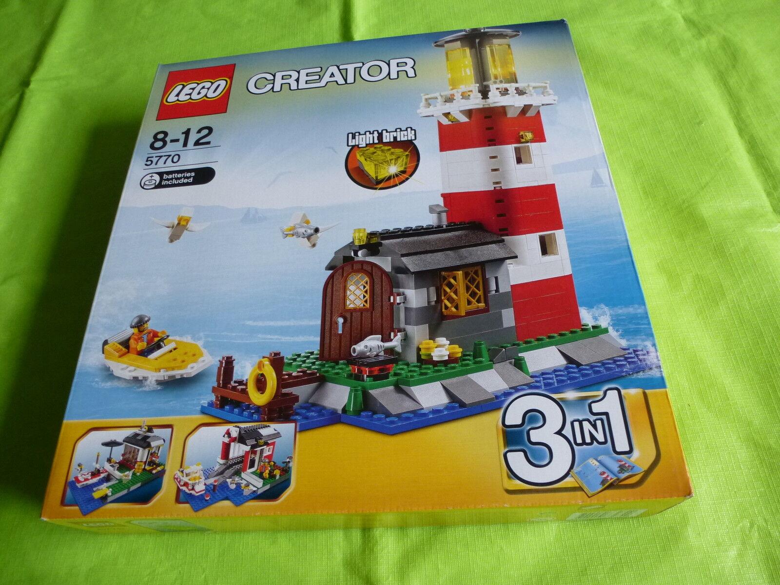 LEGO NEW 5770  2 Creator Lighthouse Sealed Box 2011 518 pieces  Now RetiROT