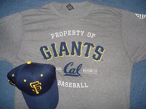 dd556d72 San Francisco Giants Cal Hat & XL T-shirt SF Cap University ...