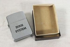 Vintage-1950-039-s-60-039-s-Wind-Master-Advertising-Lighter-Dixie-System-Wind-Dow-Master
