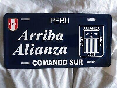 Seleccion Peru License Plate Metal Calcomania Color Lima Futbol Alianza Peruana