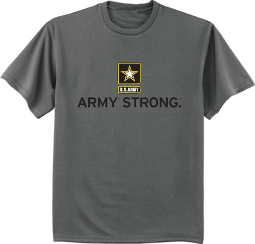 US Army Strong T-Shirt Armée tee shirt gris anthracite armée DESIGN tee-shirt Homme