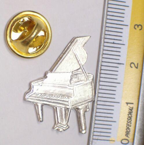 PINS con PIANOFORTE in Argento 925 musica SPILLA da giacca