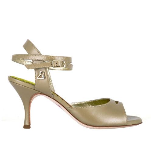 Scarpe da Tango Argentino Bandolera A2BCL Nappa perla TACCO 7 CM