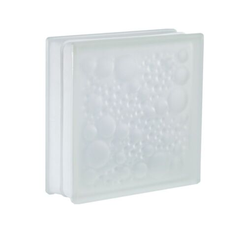 4 Stück Glasbausteine Glassteine Savona Weiss 2-seitig satiniert 19x19x5cm