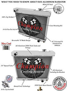 1963 1964 1965 1966 Chevy C//K series 3 Row Aluminum DR Radiator