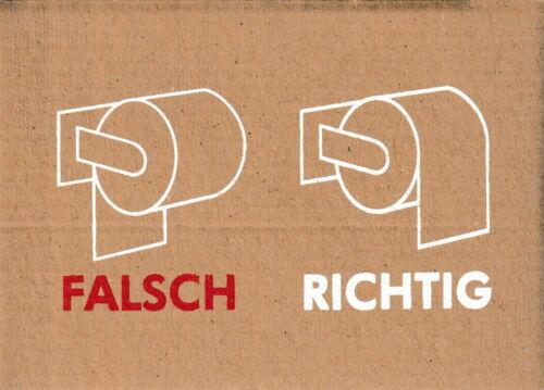 "Richtig/"" Pappcard-Postkarte /""Falsch"
