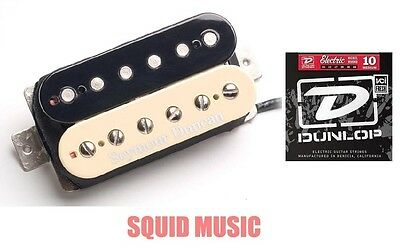1 FREE SET OF DUNLOP STRINGS Seymour Duncan Custom 5 TB-14 Zebra Trembucker