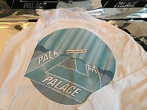 37a152af5d27 Image is loading PALACE-SKATEBOARDS-FW16-TRI-CURTAIN-XXLARGE -WHITE-LONGSLEEVE-