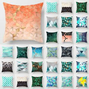 Geometric Modern Linen Pillow Case Sofa Throw Cushion Cover Home Car Decoration