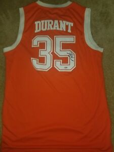 reputable site 89100 df822 Details about Kevin Durant signed Texas Longhorns Jersey 4 2 Durant ticket  PSA Finals Warriors