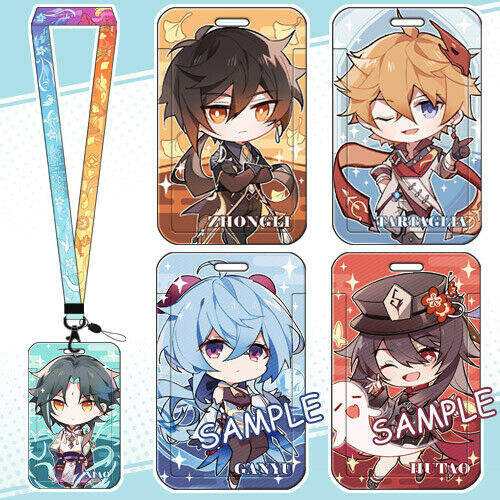 Anime Genshin Impact Phone Strap Mobile Phone Rope Hanging Wire Card Cover