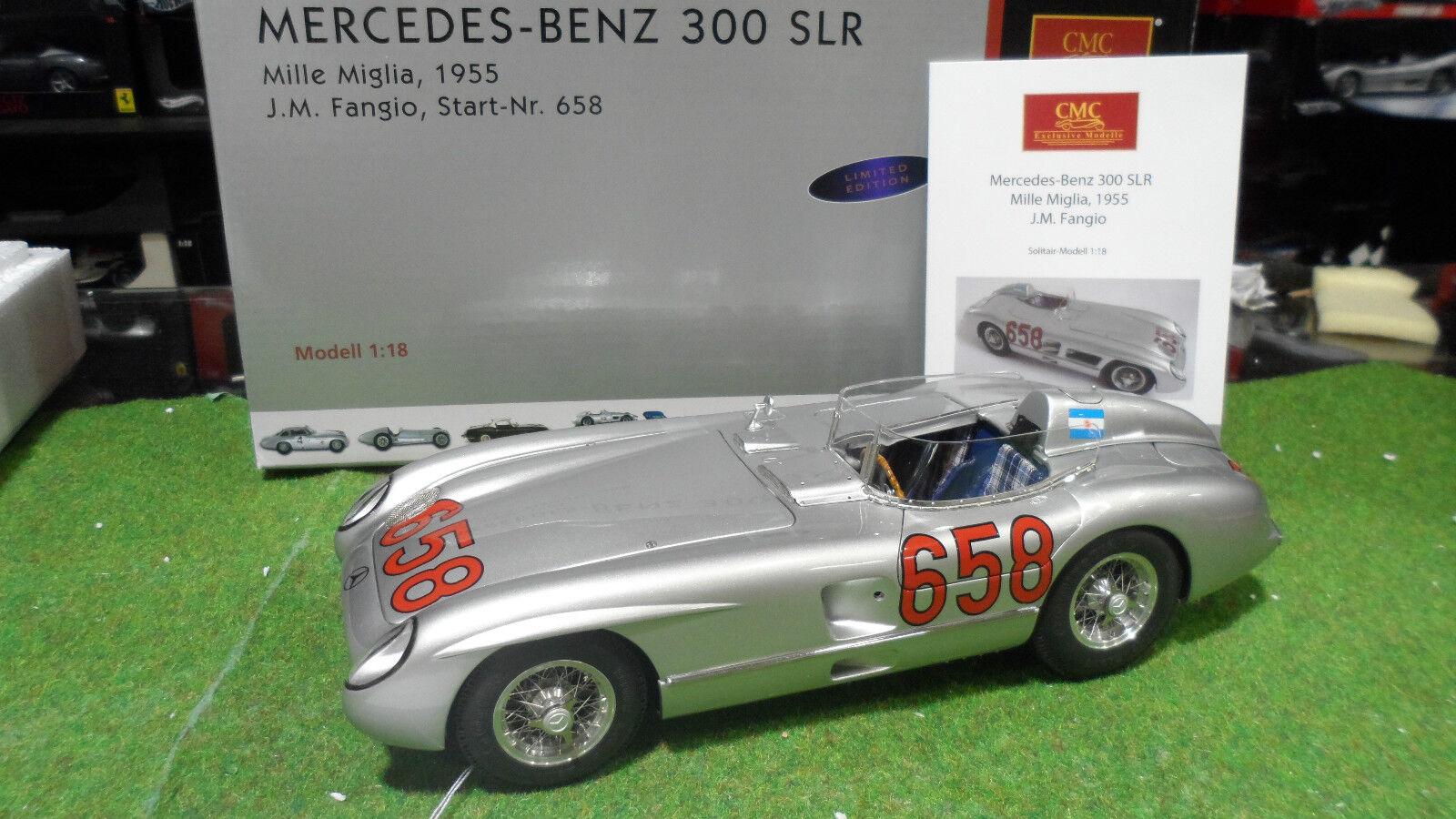 MERCEDES-BENZ 300 SLR 1955 FANGIO MILLE MIGLIA 1 18 CMC M117 voiture miniature