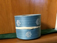 Floral Ribbon, 40; 2 1/2 , 10 Yard, blue Shells Floral,craft