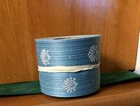 Floral Ribbon, 40; 2 1/2 , 10 Yard, blue Shells Floral,craft