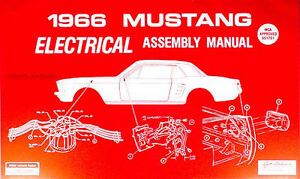 [ANLQ_8698]  1966 Ford Mustang Electrical Assembly Manual Wiring Diagrams Factory  Schematics | 1966 Mustang Wiring Diagram Manual |  | eBay