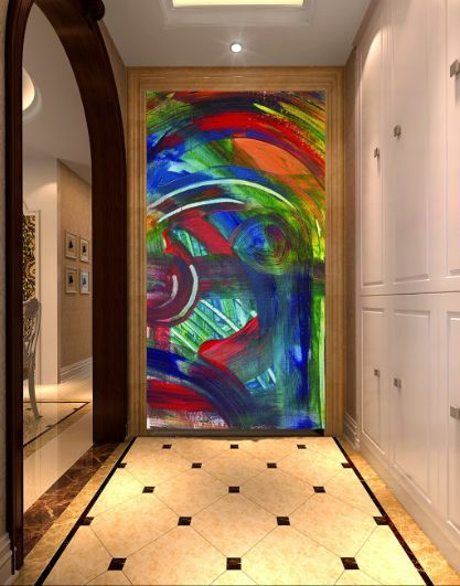 3D Farbe Graffiti 23656 Fototapeten Wandbild Fototapete BildTapete Familie DE