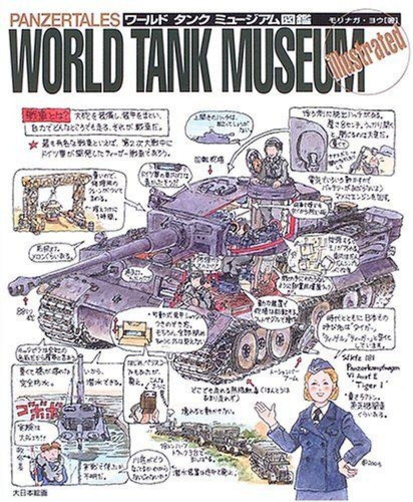 PANZERTALES WORLD TANK MUSEUM illustrated Yoh Morinaga Art Book Japan F/S J6671