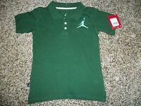 Jordan Michael Youth Kids Boys 5 Polo Shirt Green