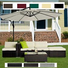 5pc Rattan Wicker Garden Furniture Sofa Set or 3m Garden Banana Hanging Parasol