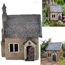 Garden Decor Cottage Hut House Antique Yard Patio Lawn Fairy Home Beautiful Mini