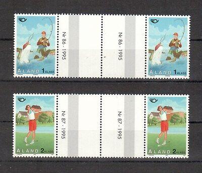 Weitere Rabatte üBerraschungen europa :5833 Aland Michelnummer 102-103 Mit Zwischensteg Postfrisch