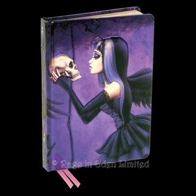 *ENAMOURED* Gothic Skull Fairy Girl Cover Embossed Hardback Journal Notebook