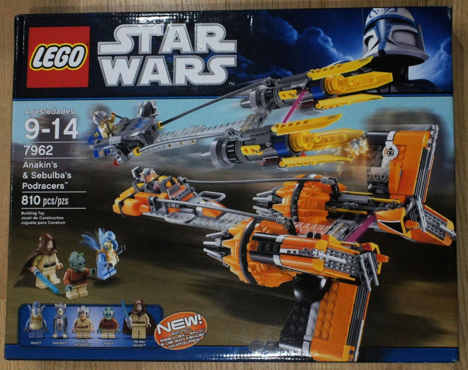 LEGO stjärnornas krig Anakin Skypromänader och Sebubas Podracers 7962 Ny pensionerad