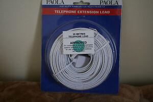 Enthousiaste Paola Téléphone Extension Plomb 20 Mètres Neuf-afficher Le Titre D'origine Service Durable