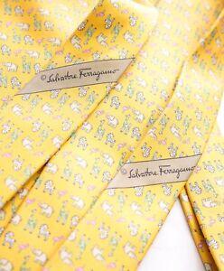 c623f80b2a8e $295 SALVATORE FERRAGAMO - *Father & Son Set* Yellow Elephant Tie ...