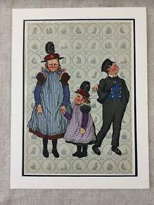 1932 Costume Stampa Olandese Bambini Paesi Bassi Provinciale Moda Art Deco Large