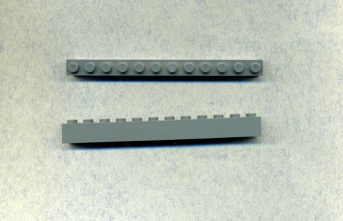 Lego-- 6112 1 x 12 Grau/DKStone Stein 2 Stück
