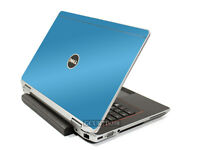 Sky Blue Vinyl Lid Skin Cover Decal Fits Dell Latitude E6220 Laptop