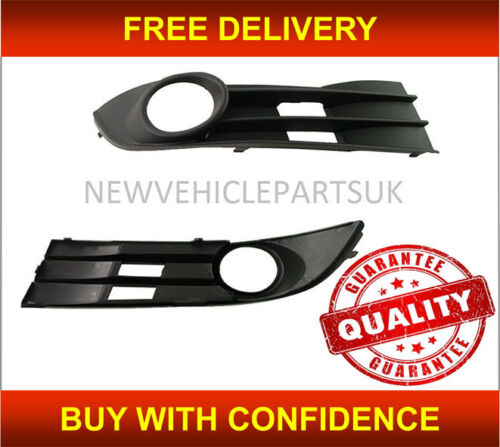 Vw Touran 2007-2011 Front Bumper Fog Grille With Fog Hole Driver Side New