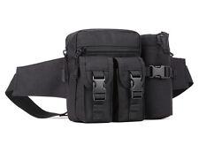 Men Nylon Military Water Bottle Waist Hip Bum Belt Pack Waterproof Shoulder Bag
