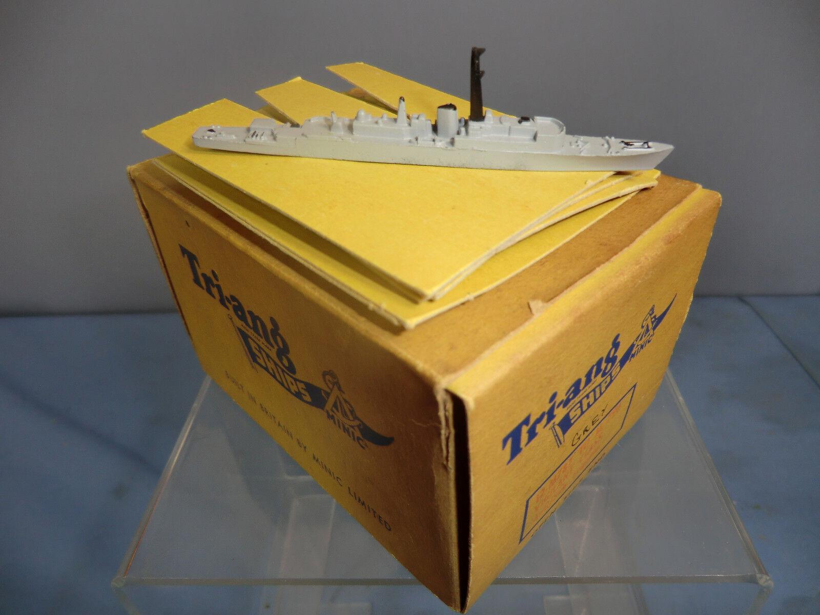 VINTAGE TRI-ANG MINIC MODEL No.M 788  HMS VENUS   FAST FRIGATE TRADE BOX