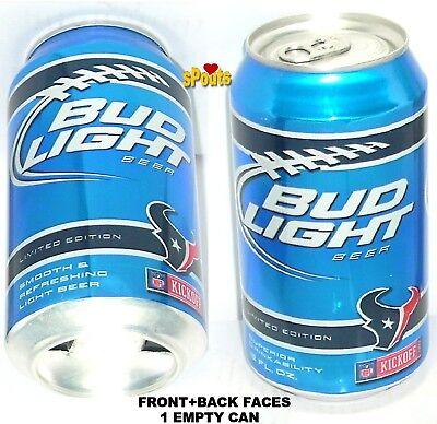 2011 HOUSTON TEXANS BUD LIGHT NFL KICKOFF BEER CAN FOOTBALL SPORT TEXAS MAN CAVE