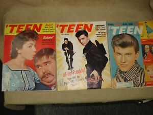VINTAGE-1959-60-039-S-034-TEEN-034-MAGAZINES-FEATURING-ANNETTE-FRANKIE-FABIAN-COVERS